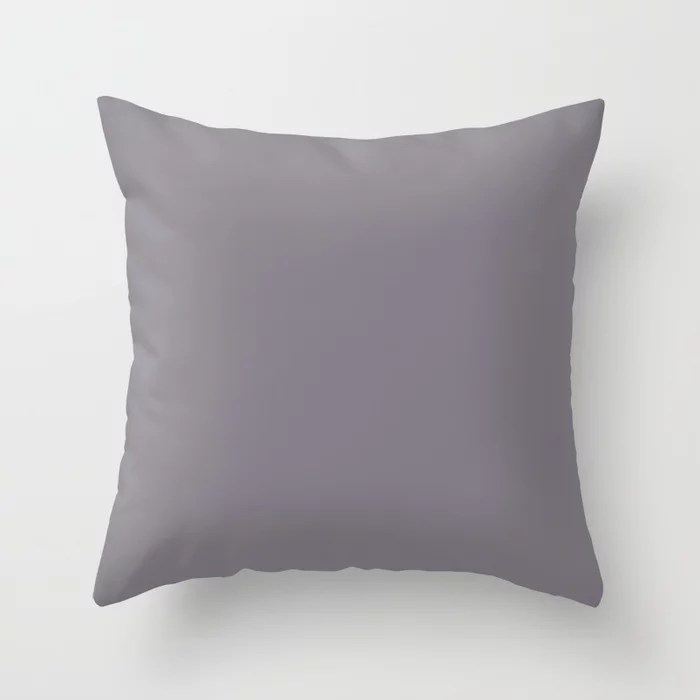 PPG Glidden Accent Color to Aqua Fiesta Magic Dust (Muted Purple) PPG13-24 Solid Color Throw Pillow