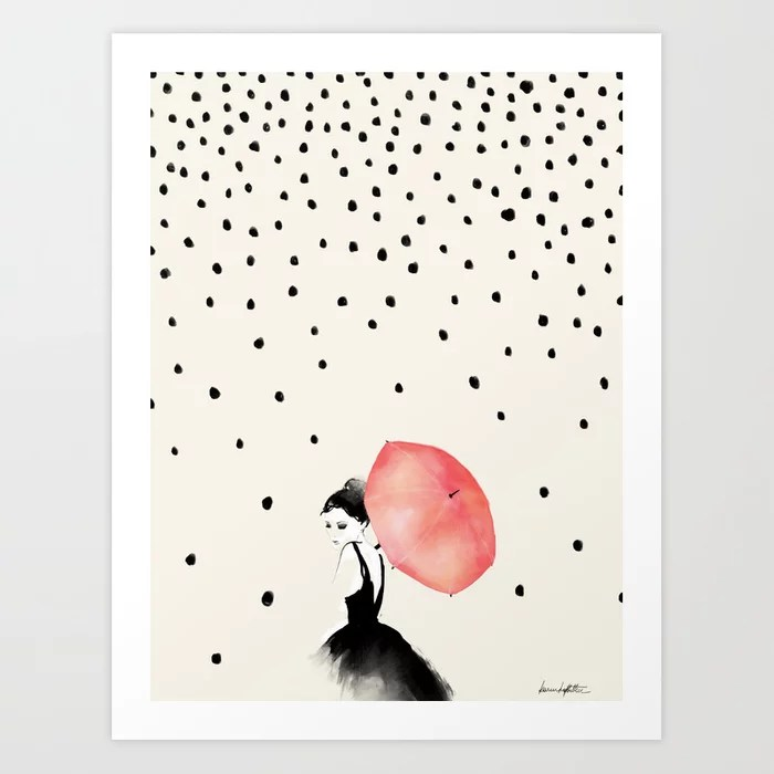 Sunday's Society6 | Rain art print