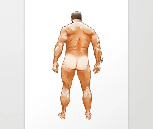 Naked Man Art Print By Eduardoburger Society