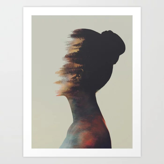 Sunday's Society6 | Double exposure photography art print