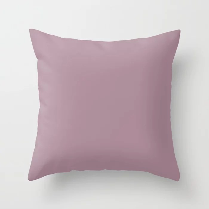Pastel Purple Pink Solid Color Behr 2021 Color of the Year Accent Shade Reserve S120-5 Throw Pillow