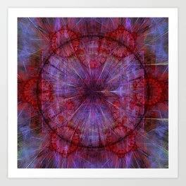 Movement in time mandala, fractal abstract Art Print