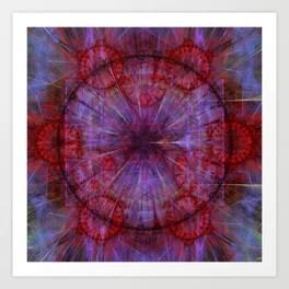 Movement in time mandala, fractal abstract Art Print