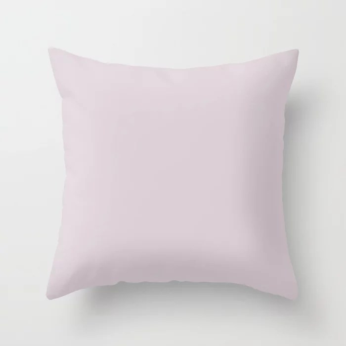 Soothing Nature Pastel Purple Pink Solid Color Coordinates w/ Sherwin Williams Wallflower SW 6281 Throw Pillow