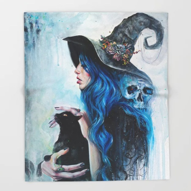 Blue Valentine Throw Blanket by Tanya Shatseva