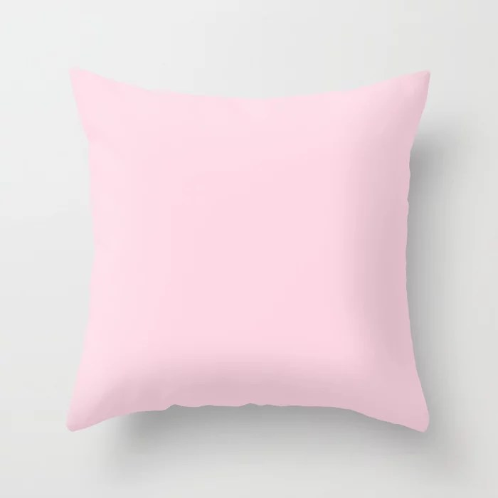 From Crayon Box – Piggy Pink - Pastel Pink Solid Color Throw Pillow
