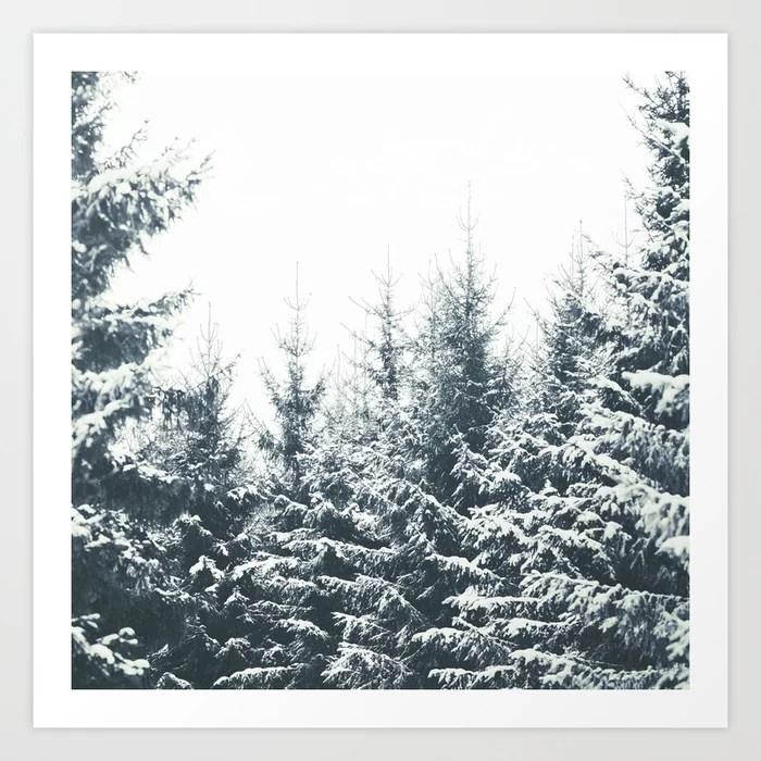 Sunday's Society6 | Winter wonderland trees art print