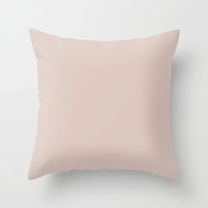 Agreeable Tanish Pink - Neutral - Pastel Solid Color Pairs To Sherwin Williams Abalone Shell SW 6050 Throw Pillow