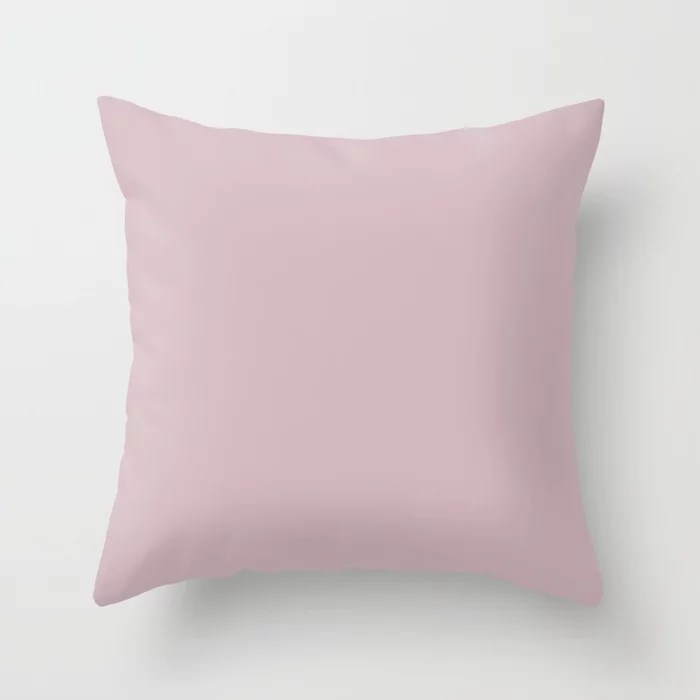 Sherwin Williams Trending Colors of 2019 Delightful (Pale Pastel Pink) SW 6289 Solid Color Throw Pillow