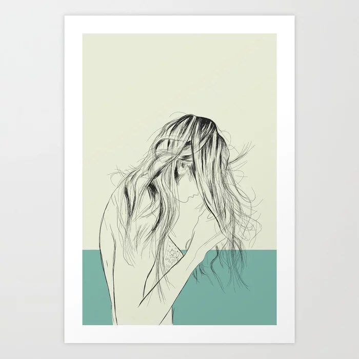Sunday's Society6 | Color block woman art print