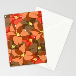Poinsettia Love Stationery Cards