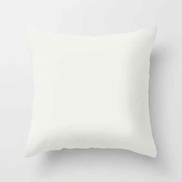 Sherwin Williams Trending Colors of 2019 Extra White SW 7006 Solid Color Throw Pillows and Patio Pillows