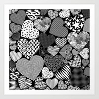 Love Hearts Doodle Art Pattern - NEW Design on Society6!