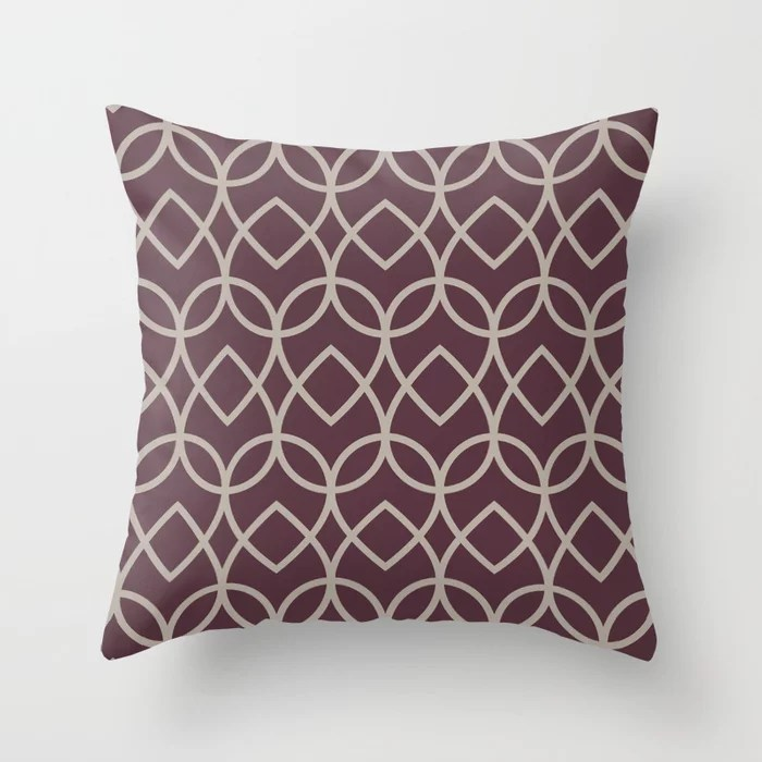 Deep Purple Gray Taupe Teardrop Geometric Pattern 2021 Color of the Year Epoch and Fondue