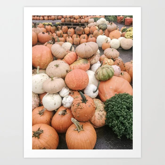 Modern Pumpkin Patch Art Print || Dreamery Society6 Shop
