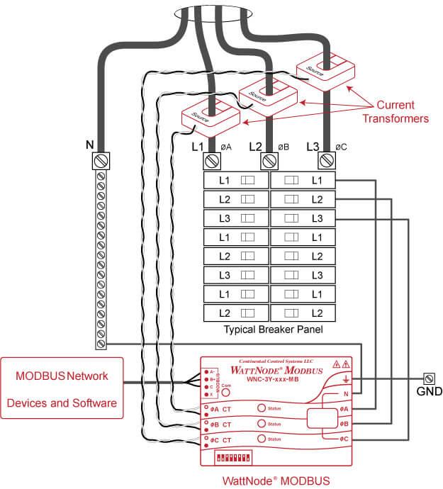 kilowatt hour meter wiring diagram gas solenoid valve wattnode modbus installation – continental control systems, llc