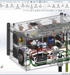 solidworks transparent view of powder coating oven control s wiring [ 1543 x 994 Pixel ]