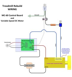 treadmill rebuild wiring using a mc 60 control board with dc motor [ 3530 x 3400 Pixel ]