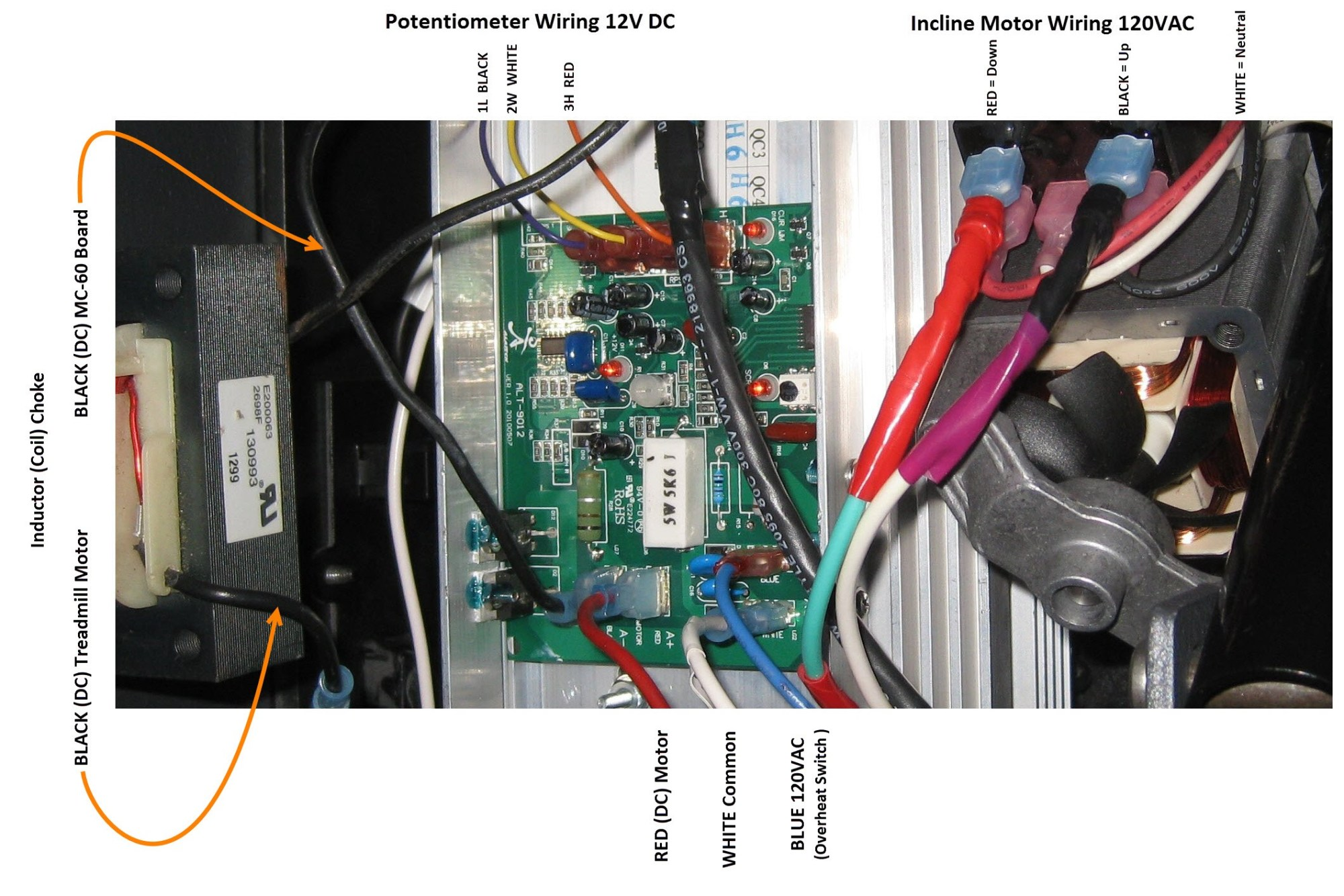 hight resolution of close up mc 60 wiring with part labels