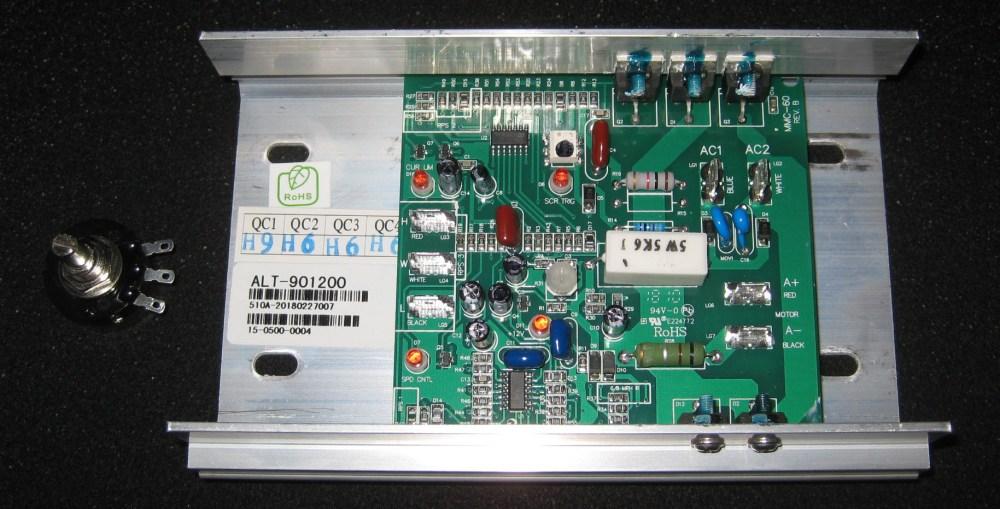 medium resolution of mc 60 dc motor controller and a 5k ohm potentiometer