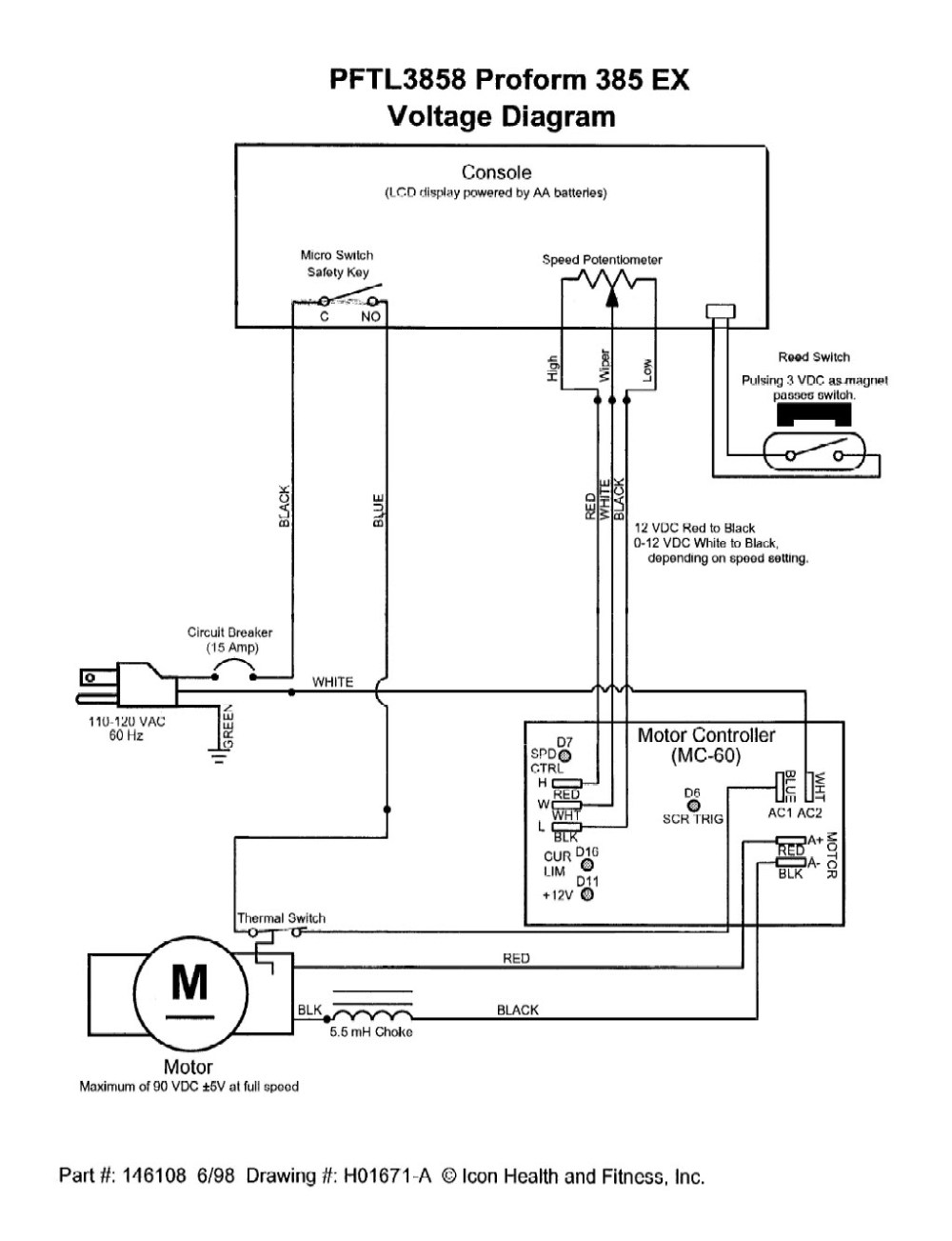 medium resolution of proform treadmill mc 60 controller wiring voltage diagram