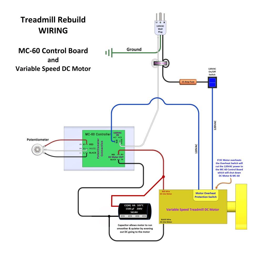 medium resolution of treadmill mc 60 control wiring with 1500 f 200v capacitor