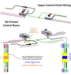 wiring in the 3d printed boxes for treadmill speed incline motor controls [ 4400 x 4193 Pixel ]