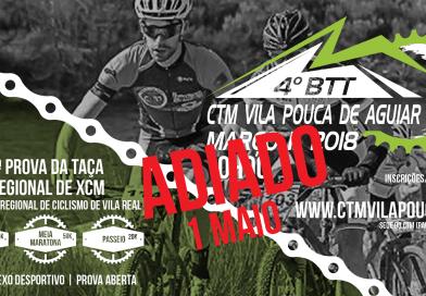 4º BTT CTM Vila Pouca de Aguiar – Alteração de data