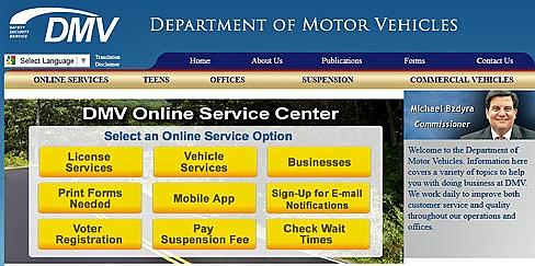 DMV website