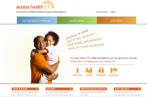 Screengrab of Access Health CT web portal