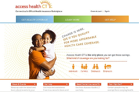 Access Health CT website