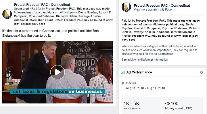 Screengrab of Facebook Ad Archive