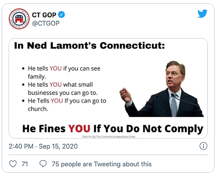 screengrab from ctgop's twitter account