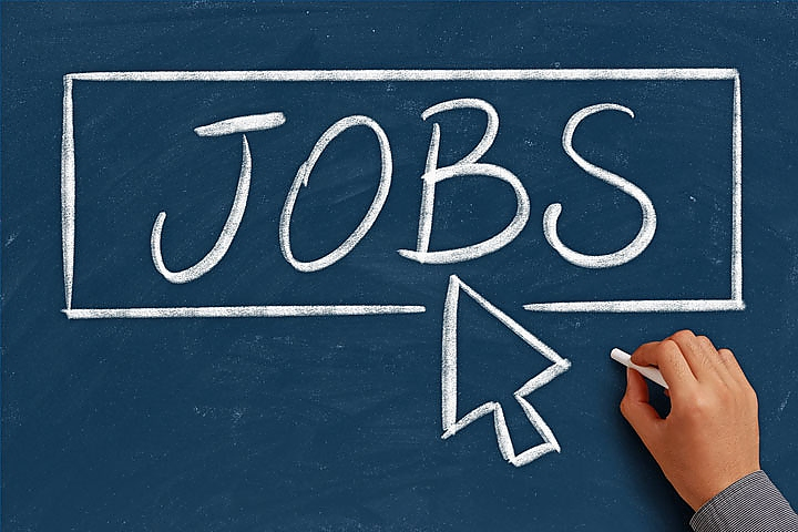 Jobs concept on the chalkboard