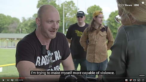 screengrab from vice's charlottesville documentary