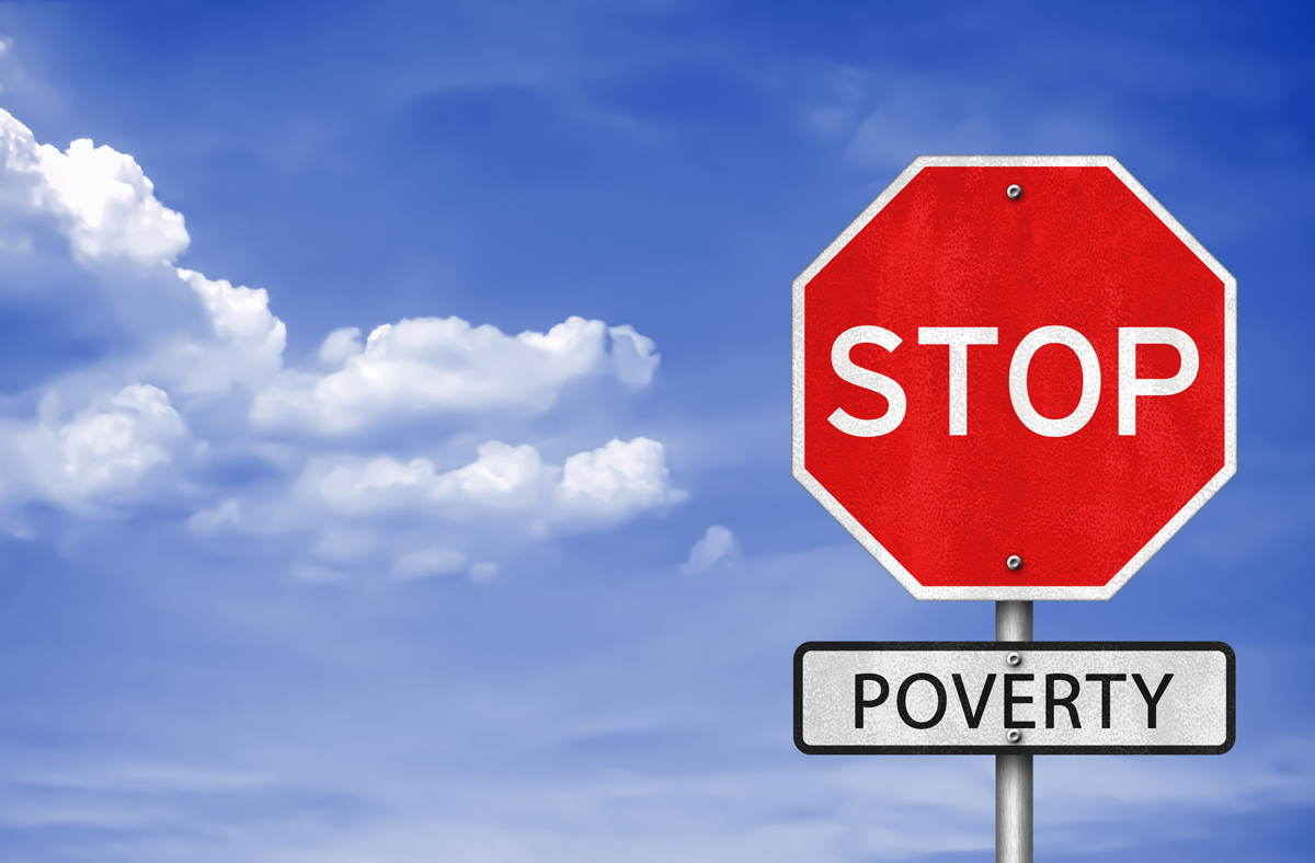 Stop poverty concept image (gguy via Shutterstock)