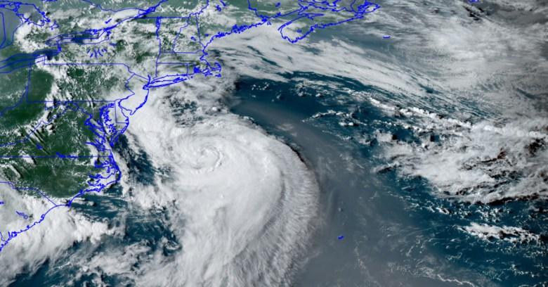 Satellite image of Hurricane Henri, Saturday, Aug. 21, 2021, 5:45 p.m.