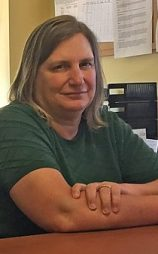 Cromwell Tax Assessor Shawna Baron in her office on July 9, 2018.