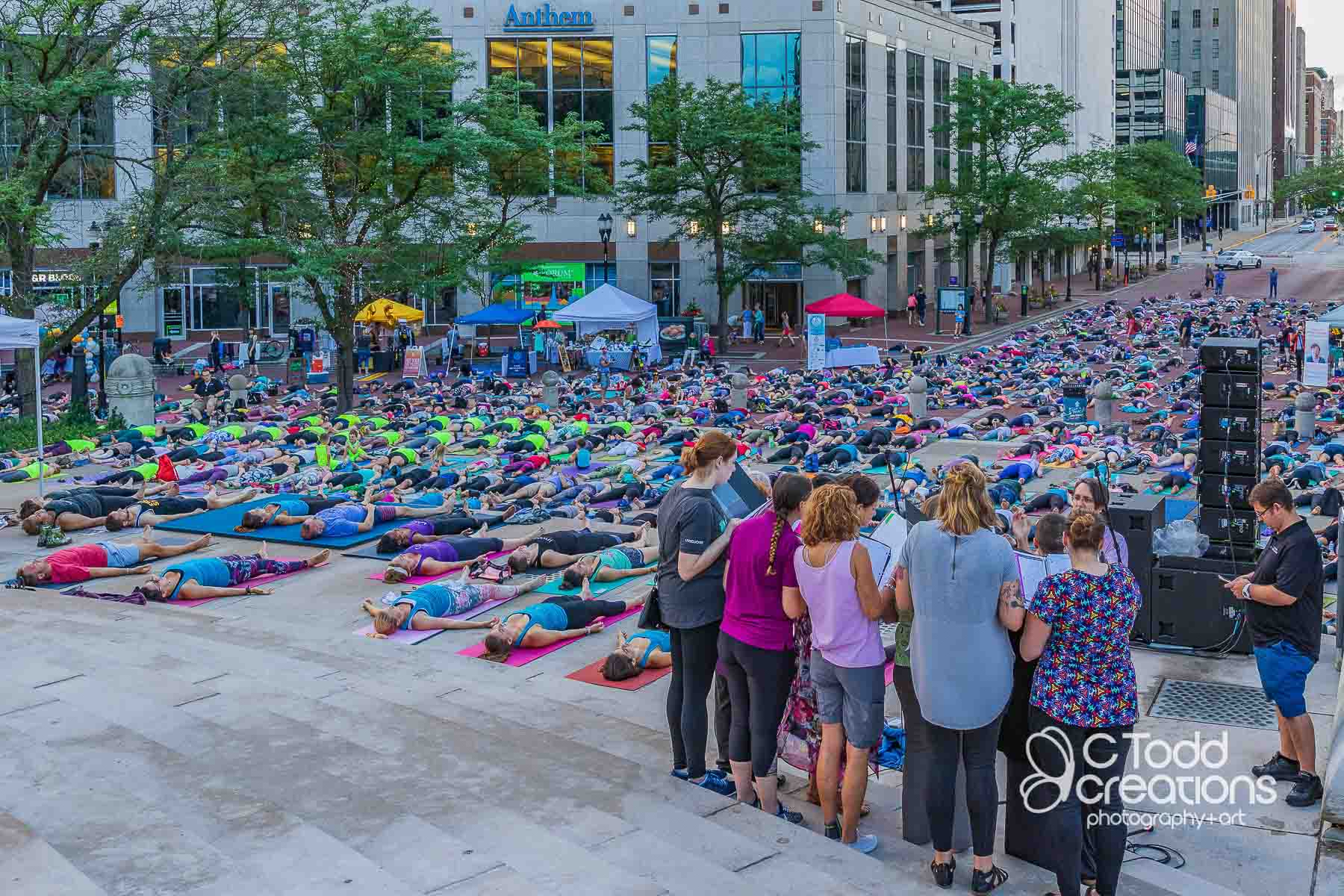 event photo from monumental yoga