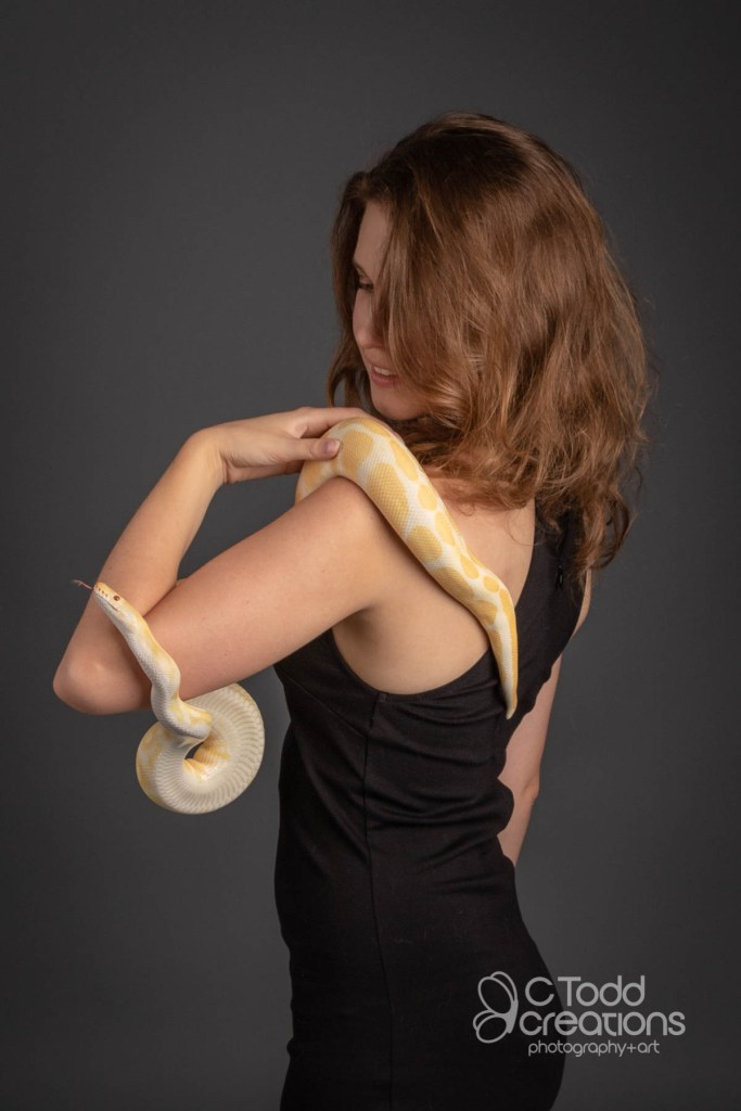 portrait of a woman with a snake