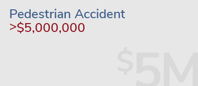 Graphic: pedestrian accident recovery of >$5,000,000