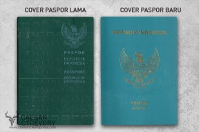 Desain cover paspor lama dan paspor baru