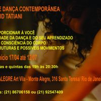 Dança contemporânea em Santa Teresa (RJ): Ingrid Tatiani oferece aulas até julho!