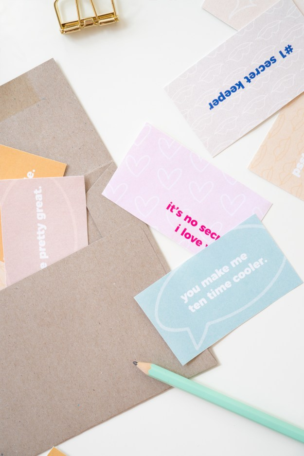 Secret Compliment Cards for Valentine's Day