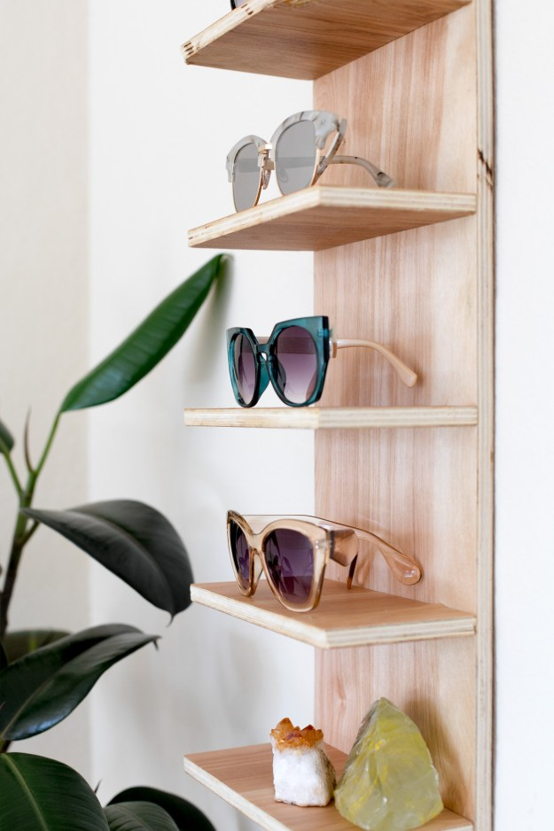 Renter Friendly DIY Sunglasses Holder