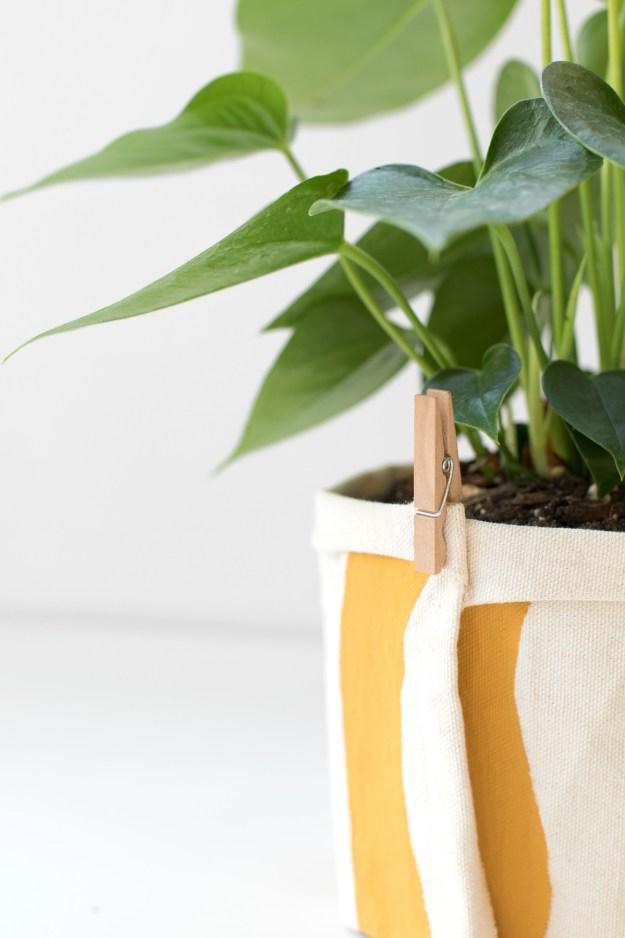 DIY No Sew Plant Wrap