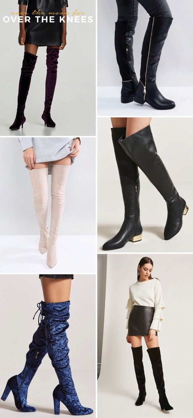 new years outfit ideas over the knee boots
