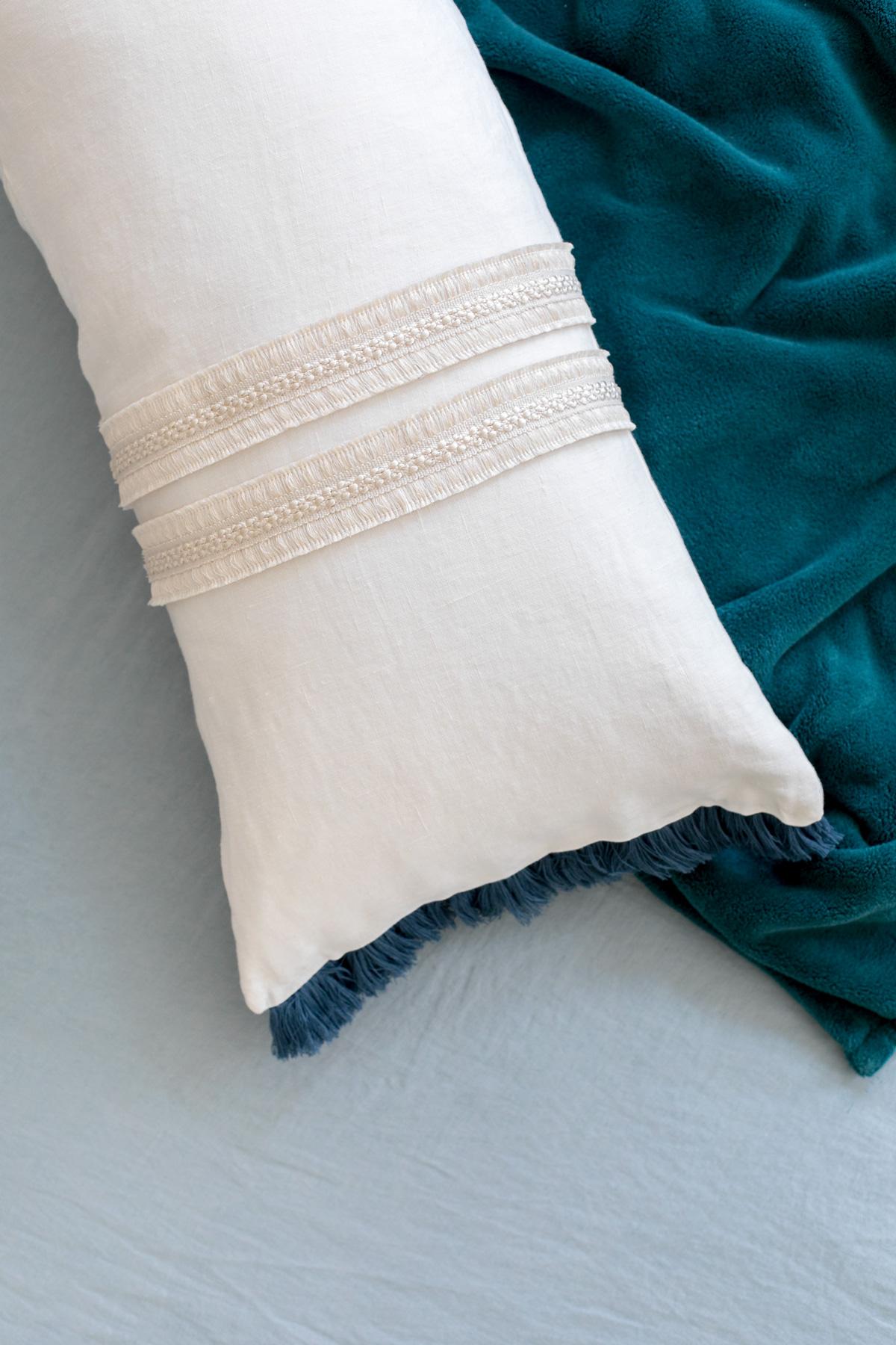 diy no sew lumbar pillow ctrl curate. Black Bedroom Furniture Sets. Home Design Ideas