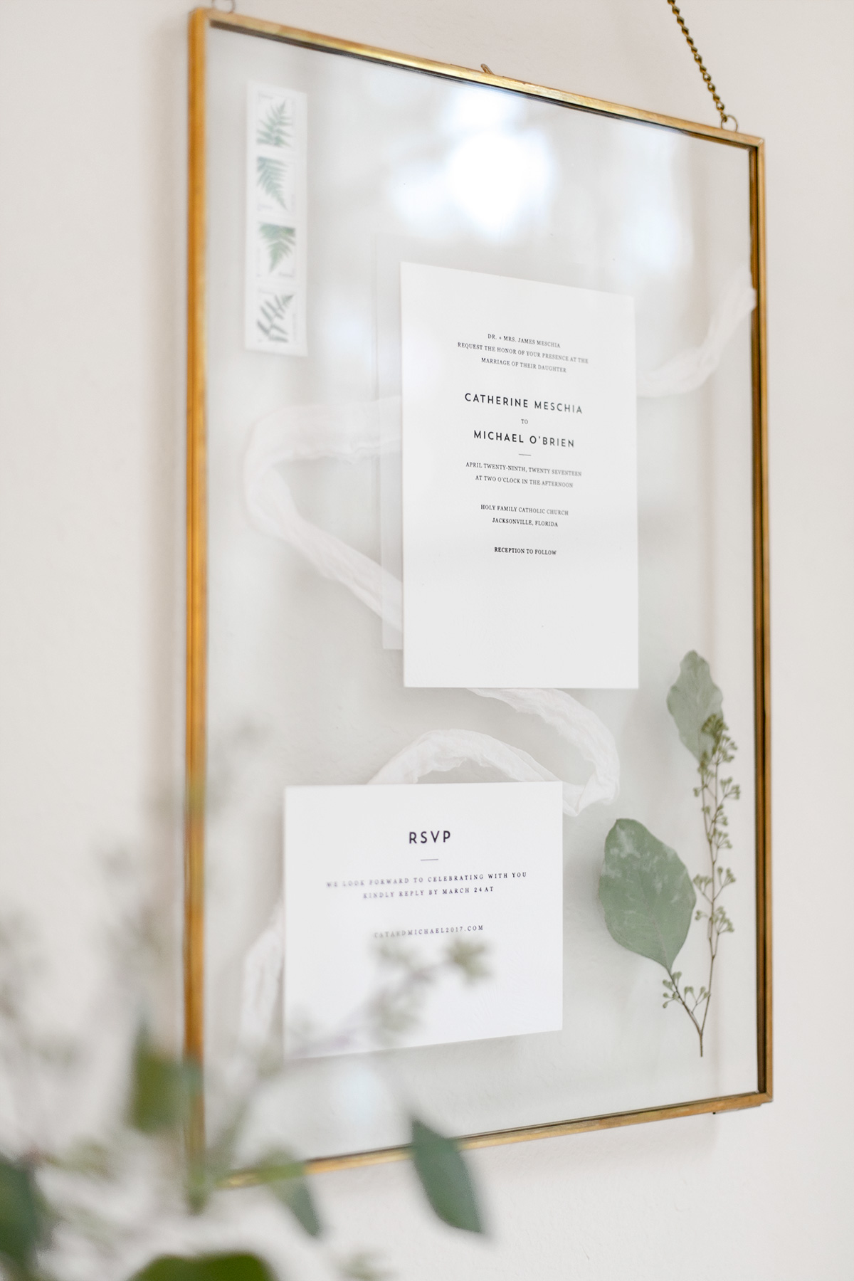 Wedding Invitations Gifts: Valentine's Day Gift Idea, Framed Wedding Invitations