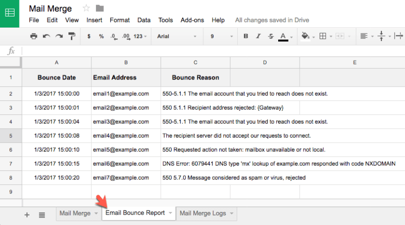 How to Track Bounced Email Messages with Gmail Mail Merge